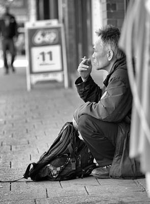 Photograph - Having A Smoke by Douglas Pike