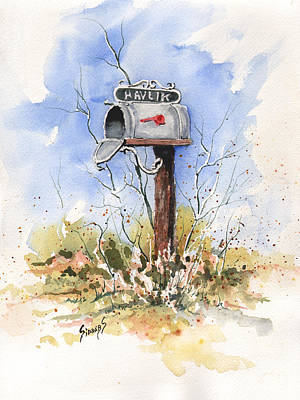 Mail Painting - Havlik's Mailbox by Sam Sidders