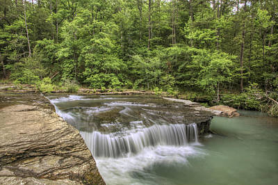 Photograph - Haw Creek Falls From The Bluff - Ozarks - Arkansas by Jason Politte