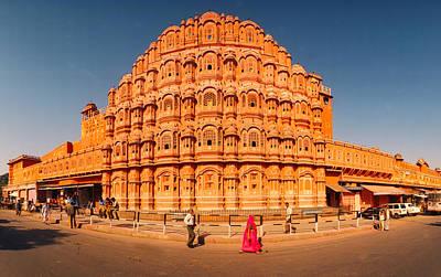 Featured Images Photograph - Hawa Mahal At Jaipur, Rajasthan, India by Panoramic Images