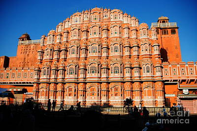Photograph - Hawa Mahal Palace Of The Winds Of Jaipur by Jacqueline M Lewis