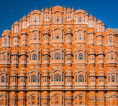 Hawa Mahal Moon Art Print by Inge Johnsson