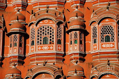 Photograph - Hawa Mahal Window Detail by Jacqueline M Lewis