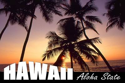 Photograph - Hawaii Aloha State Poster by Art America Gallery Peter Potter