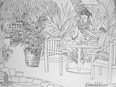 Drawing - Hawaii Coloring Page by Barbara J Blaisdell