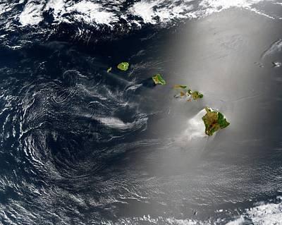 Hawaii Art Print by Jacques Descloitres, Modis Land Rapid Response Team At Nasa/gsfc