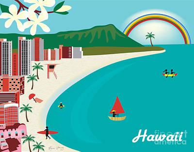 Framed Art Digital Art - Hawaii by Karen Young