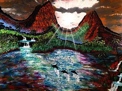 Art Print featuring the painting Hawaii  by Michael Rucker
