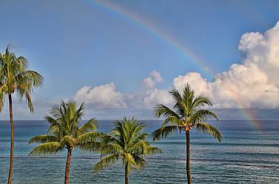 Photograph - Hawaii Rainbow by Peggy Collins