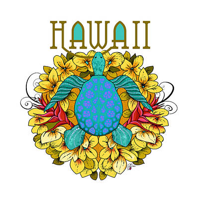 Hawaii Sea Turtle Digital Art - Hawaii by Renee Ciufo