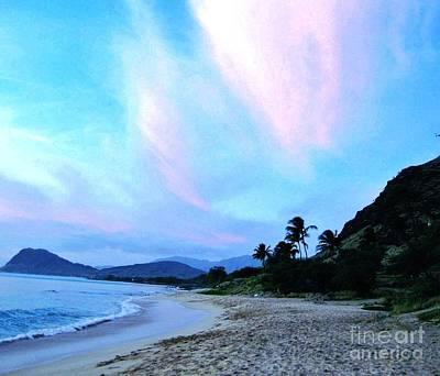 Wrap Digital Art - Hawaii Shoreline by Marsha Heiken