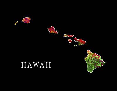 Niihau Hawaii Digital Art - Hawaii State by Daniel Hagerman