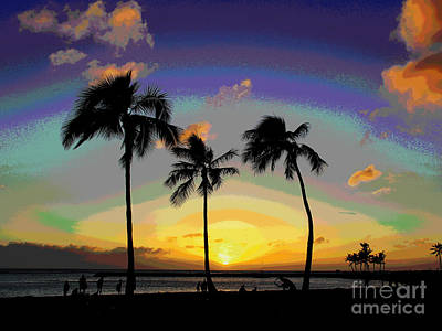 Photograph - Hawaii Sunset by Larry Oskin