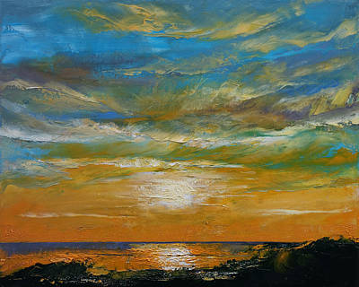 Mike Painting - Hawaii Sunset by Michael Creese