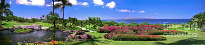 Photograph - Hawaii Wailea Gold Course Golf Course Panorama 2 by David Zanzinger