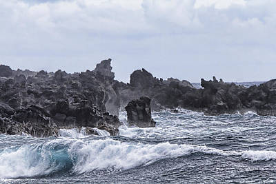 Hawaii Waves V1 Art Print by Douglas Barnard