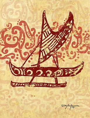 Hawaiian Canoe Art Print by William Depaula