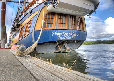 Photograph - Hawaiian Chieftain At Dock  by HW Kateley
