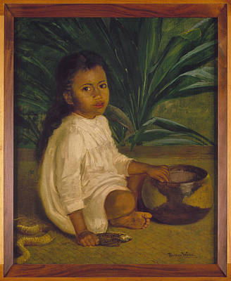 Turn Of The Century Painting - Hawaiian Child, 1901 by Granger