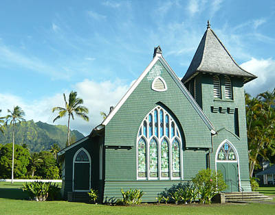 Hawaiian Church Art Print by Dee  Savage
