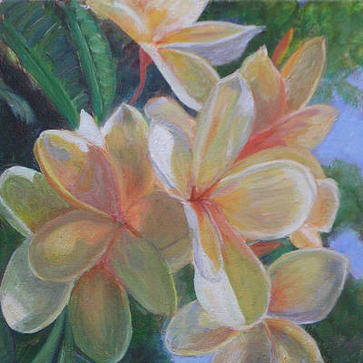 Fauna Painting - Hawaiian Flowers by Patty Weeks
