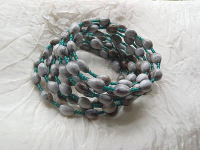 Wire Wrap Bracelet Jewelry - Hawaiian Job's Tear Seed Braclet by Melanie Maria Scott