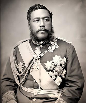 1880s Photograph - Hawaiian King David Kalakaua 1882 by Mountain Dreams