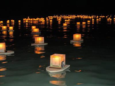 Valentines Day - Hawaiian Lantern Lighting by Elaine Haakenson