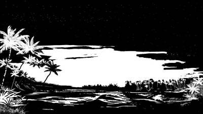 Art Print featuring the digital art Hawaiian Night by Anthony Fishburne