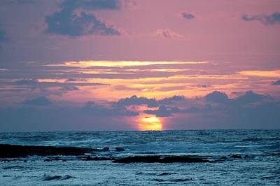 Art Print featuring the photograph Hawaiian Ocean Sunrise by Lehua Pekelo-Stearns