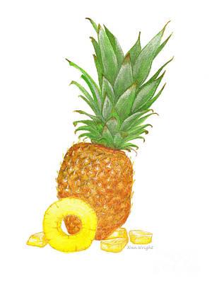Hawaiian Pineapple Original by Nan Wright