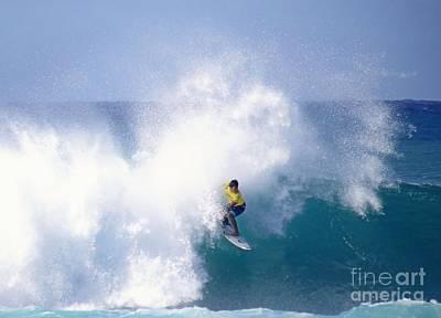 Triple Crown Of Surfing Photograph - Hawaiian Pro Surfer Kekoa Bacalso by Scott Cameron