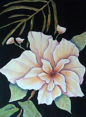 Warm Colors Mixed Media - Hawaiian Pua by Pamela Allegretto