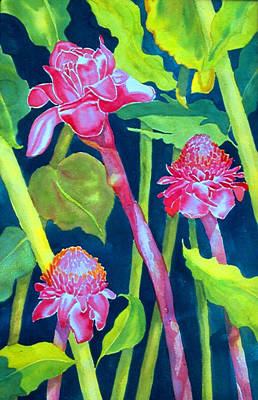 Painting - Hawaiian Red Ginger by Ruth Soller