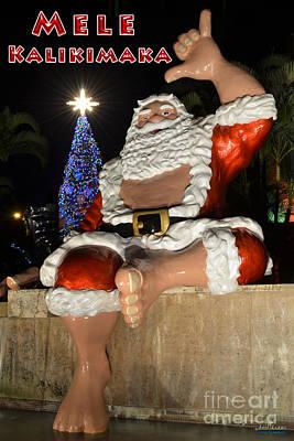 Hawaiian Santa Art Print