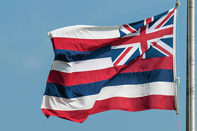 Haleiwa Photograph - Hawaiian State Flag, Oahu, Hawaii by Michael Defreitas
