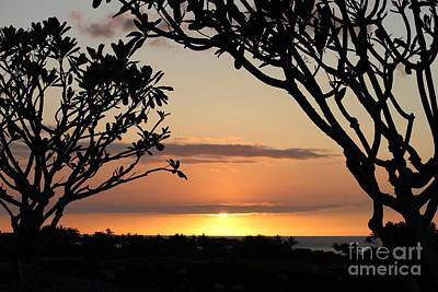 Hawaiian Sunset All Profit Go To Hospice Of The Calumet Area Art Print