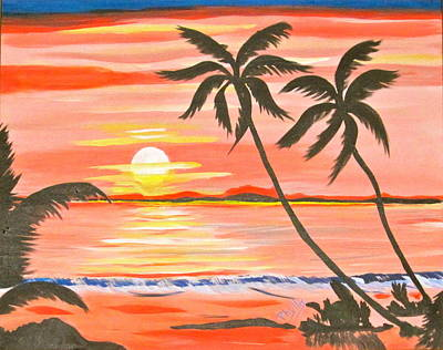 Painting - Hawaiian Sunset by Phyllis Kaltenbach