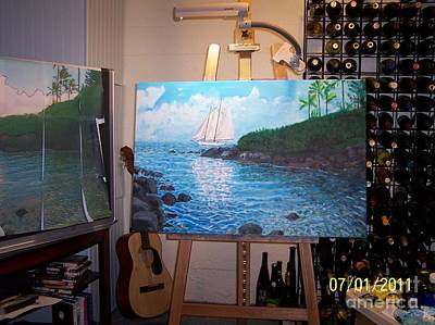 Painting - Hawaiian Vista In Studio by Charlie Harris