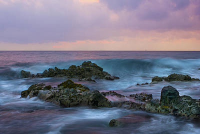 Hawaiian Waves At Sunset Art Print