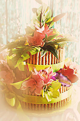 Hawaiian Wedding Cake Art Print by Susan Bordelon