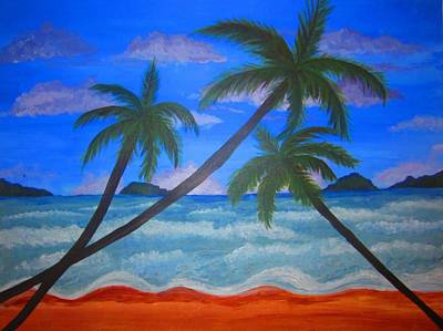 Painting - Hawaiin Beach by Haleema Nuredeen