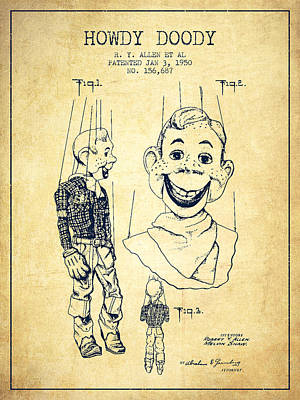Toys Digital Art - Hawdy Doody Patent From 1950 - Vintage by Aged Pixel