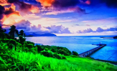 Digital Art - Hawiian Sunset by Chris Flees