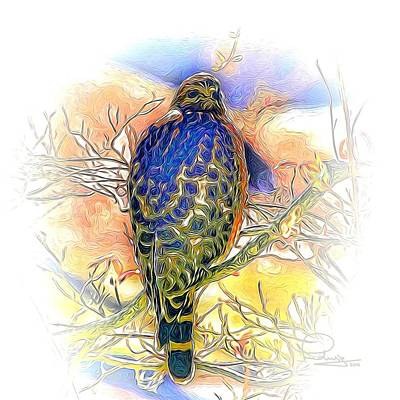 Digital Art - Hawk 2 by Ludwig Keck
