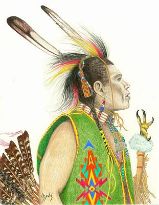 Drawing - Hawk Foot by Lew Davis