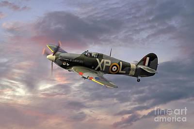Ww11 Aircraft Photograph - Hawker Hurricane - Evening Sortie by Steve H Clark Photography