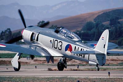 Fury Photograph - Hawker Sea Fury Nx51sf Taxiing Camarillo August 23 2003 by Brian Lockett