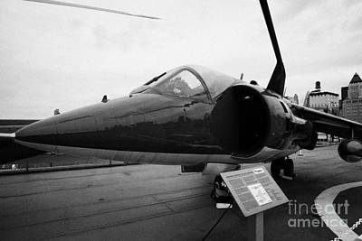 Hawker Siddeley Av8c Harrier On Display On The Flight Deck At The Intrepid Sea Air Space Museum Art Print