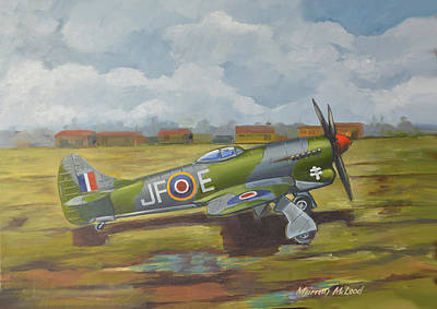Print featuring the painting Hawker Tempest by Murray McLeod